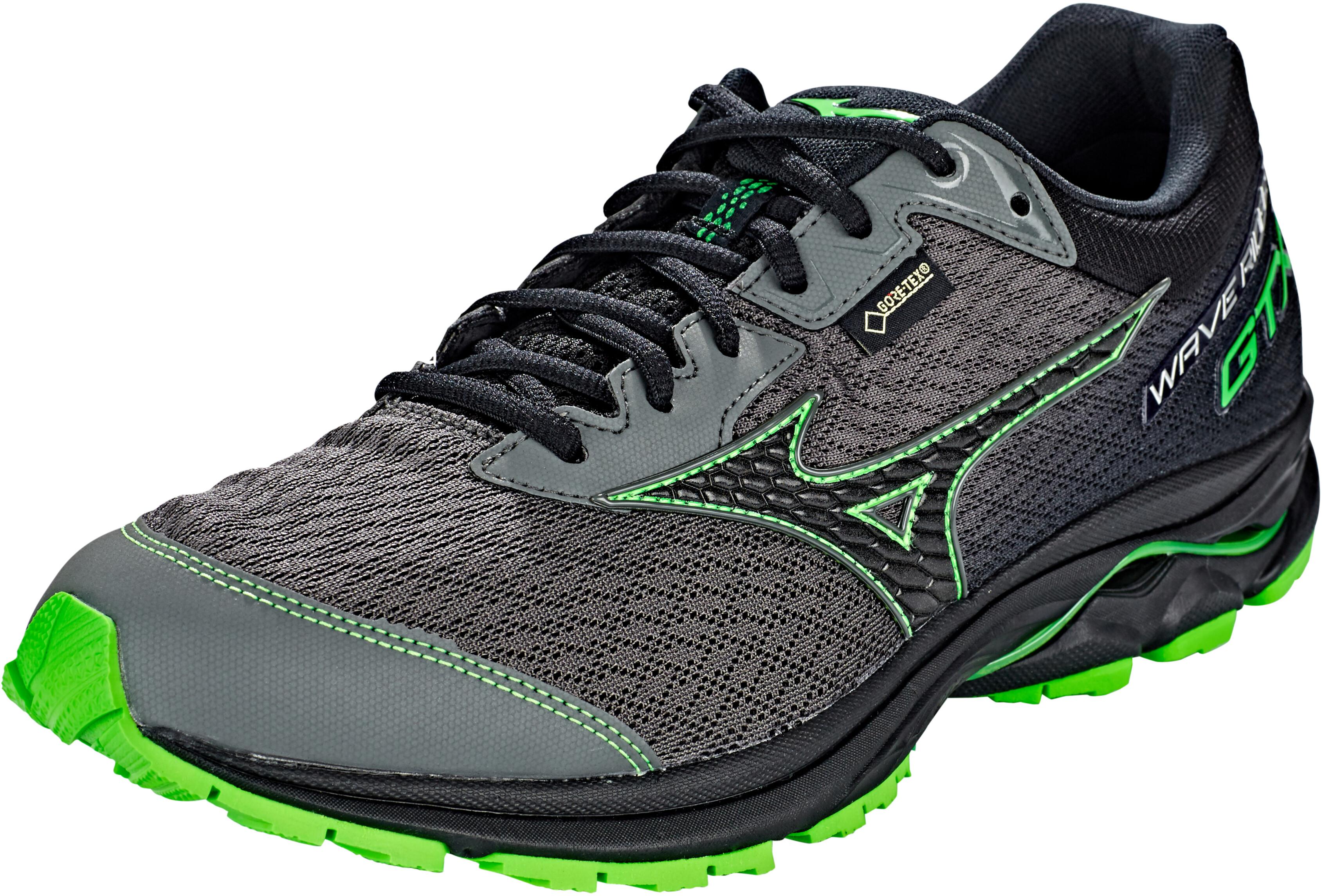c15a73dd3b2 Mizuno Wave Rider GTX Running Shoes Men gunmetal/black/green slime
